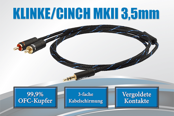 Klinke Cinch 3,5mm