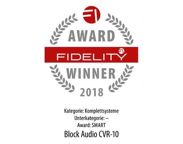 CVR-10 Fidelity Award